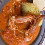 今週のカレーは 生クリームとトマトの海老カレー